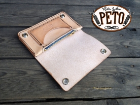 Peto Kustom Leathers natural biker wallet