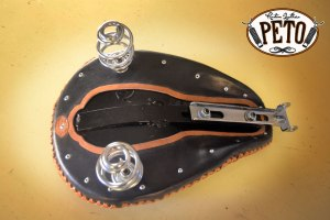 Peto Kustom Leathers chopper seat bottom